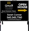 real estate fine homes agent open house A-frame and black sign panel unit,  .050 polyethylene 18x24