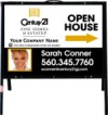 real estate fine homes photo open house A-frame and white sign panel unit,  .050 polyethylene 18x24