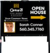 real estate fine homes photo open house A-frame and black sign panel unit,  .050 polyethylene 18x24