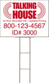 Real estate wire h frame stake and sign panel unit, corrugated plastic 18x24