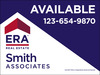 commercial real estate sign panel printed on one side, 3mm aluminum composite, 36x48