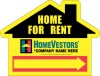 real estate house shaped home for rent sign panel, 4mm corrugated plastic 18x24