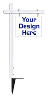 real estate aluminum sign post and sign panel unit, 24 GA steel 18x24