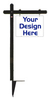 18x24 Black Aluminum Sign Post Uni