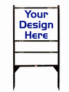 real estate Angle Iron Frame and sign panel unit for 1 rider insert, 24 GA steel 18x24