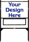 18 x 30 Angle Iron Yard Sign Unit with 1 Rider Insert