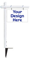 real estate Aluminum Sign Post and sign panel unit, 24 GA steel 18x30