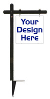 24x24 Black Aluminum Sign Post Unit