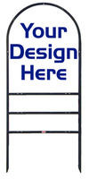 Arc Frame and Arc Sign Panel Unit w 2 Rider Inserts, Black, 30x24