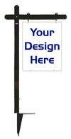 30x24 Black Aluminum Sign Post Unit