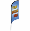 real estate custom feather flag unit, 9-foot