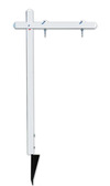 real estate aluminum sign post with ground anchor, 18X24 Panel - White