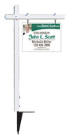 real estate aluminum sign post and sign panel unit, .150 Poly 18x24