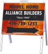 A-Frame Sign Unit, Steel 18x24, White