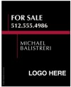 real estate Luxury Homes agent hanging sign panel, 24 GA steel 30x24