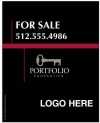 real estate Luxury Homes hanging sign panel, 24 GA steel 30x24
