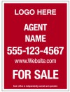 real estate reflective sign panel, 24 GA steel 24x18
