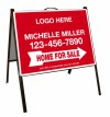 real estate home for sale black a-frame and sign panel unit, .050 polyethylene 18x24