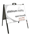 real estate open house A-frame sign and panel unit, 24ga steel 18x24