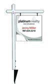 real estate aluminum sign post and sign panel unit, 24ga steel 24x24