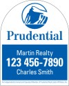 real estate agent sign panel, .150 polyethylene 30x24