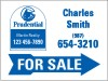 real estate agent for sale sign panel with blue arrow, 24 GA steel 18x24