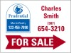 real estate agent for sale sign panel with red arrow, 24 GA steel 18x24