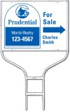 real estate for sale sign panel and round rod sign frame unit, 24 GA steel, 18x24