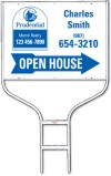 real estate agent open house sign panel and round rod sign frame unit, 24 GA steel, 18x24