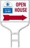 real estate open house round rod sign frame and panel unit, 24 GA steel 18x24