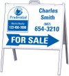 real estate for sale a-frame and sign panel unit, 24 GA steel 18x24