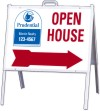 real estate open house a-frame and sign panel unit, 24 GA steel 18x24