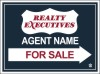 real estate for sale sign panel, 24 GA steel 18x24