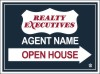 real estate open house sign panel, 24 GA steel 18x24