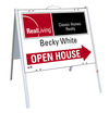 real estate enhanced logo agent open house a-frame and sign panel unit,.050 polyethylene 18x24