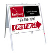 real estate enhanced logo open house a-frame and sign panel unit,.050 polyethylene 18x24
