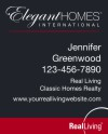 Real Estate elegant homes hanging Sign Panel with grommets, 24 GA Steel 30x24
