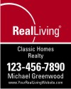 real estate enhanced logo agent hanging sign panel with grommets, 24 GA steel 30x24