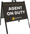 real estate A-frame sign and sign panel unit, 24 GA steel 18x24