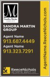real estate team logo sign panel, .090 polyethylene 28x18