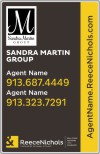 real estate team photo sign panel, .090 polyethylene 28x18