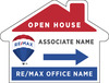 Directional House Shape Open House Sign Panel, 18x24, 4mm