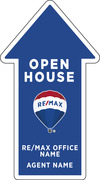 Directional OPEN HOUSE SF Arrow Shape Sign Panel, Corrugated 4mm, 21.5x12