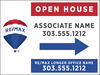 Directional Open House Sign Panel, 18x24, 4mm