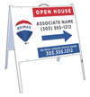 Angle Iron A-Frame and Open House Sign Panel Unit, 18x24
