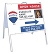 Angle Iron A-Frame and Photo Open House Sign Panel Unit, 18x24