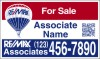 real estate QR Code hanging sign panel with grommets, 24 GA steel 18x30