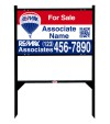 real estate angle iron sign frame and QR Code panel unit, 24 GA steel 18x30