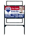 18 x 30 Angle Iron Yard Sign Unit with 2 Rider Inserts