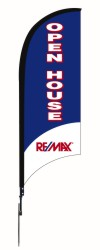 real estate OPEN HOUSE FEATHER FLAG AND POLE, 9-foot